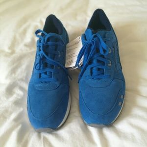 Men Asics Leather GEL-LYTE blue shoes,NWT